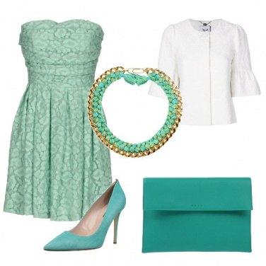 Outfit Tiffany e bianco