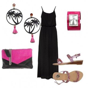 Outfit A passeggio in Nero e Fuxia