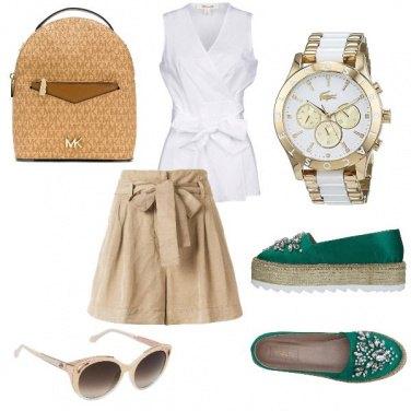 Outfit Scarpa verde smeraldo
