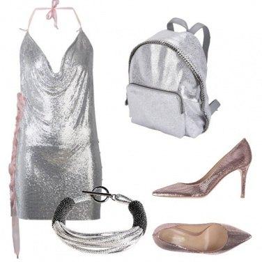 Outfit Argento e laminato