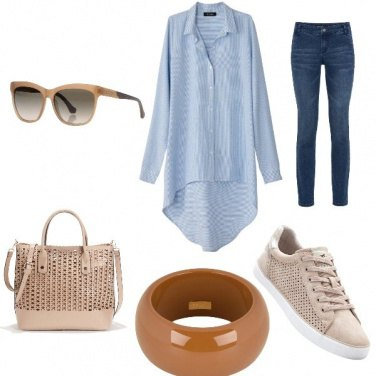 Outfit Jeans & Beige