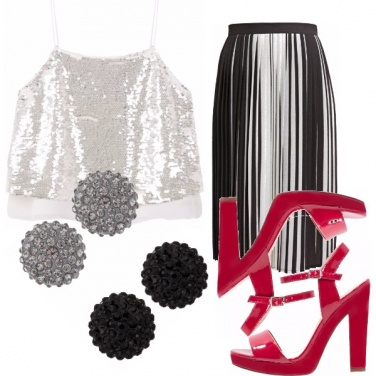 Outfit Silver-red