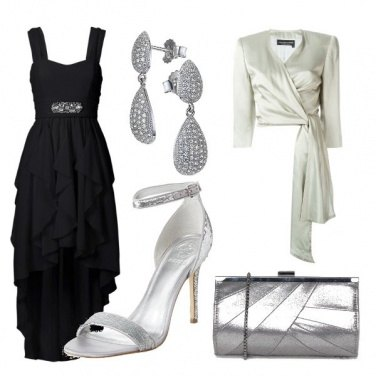 Outfit Red carpet black and silver