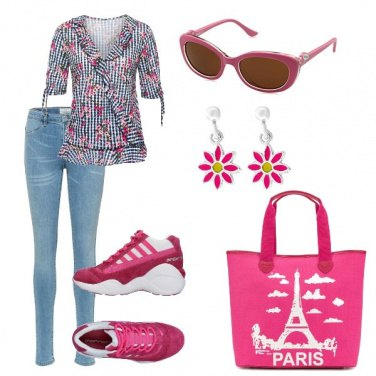 Outfit Margherite e sneakers