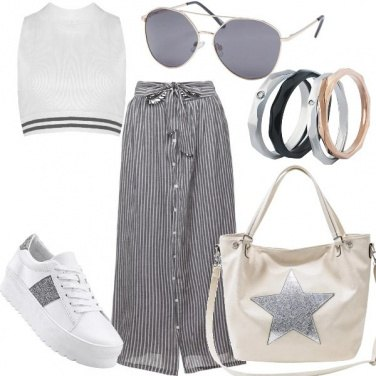 Outfit Trendy con il crop top