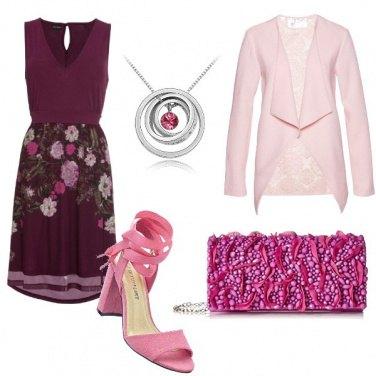 Outfit Rosa e granata