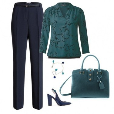 Outfit Green & blue