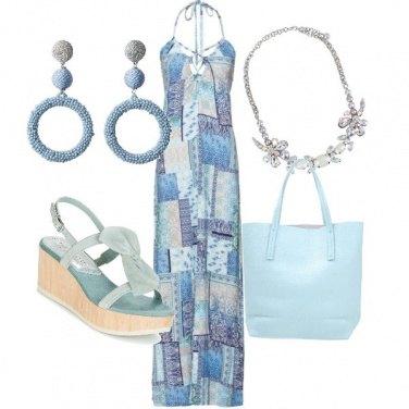 Outfit I toni del celeste