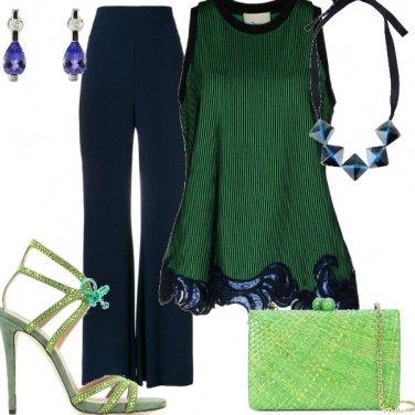 Outfit Dal verde al blu