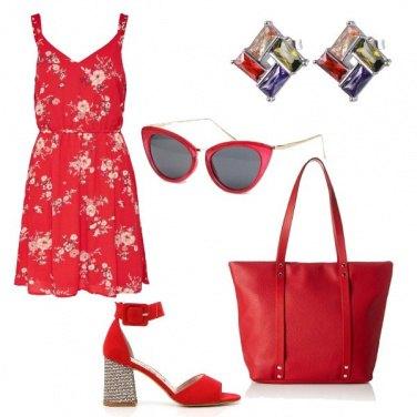 Outfit Rosso estivo