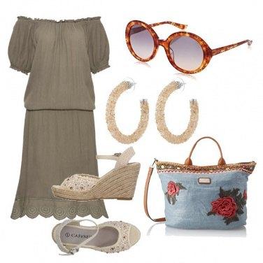 Outfit Il vestito oliva e corda
