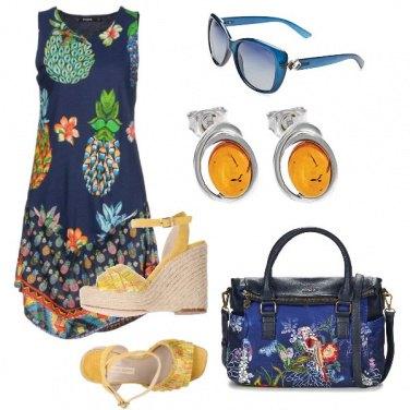 Outfit Ananas e ocra