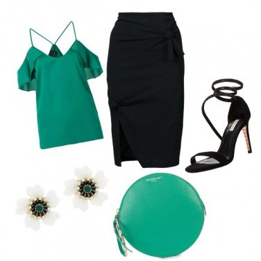 Outfit Green is the new black