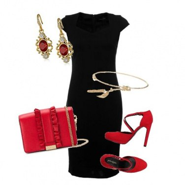 Outfit Il rosso chic