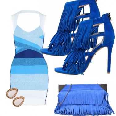 Outfit Frange blu