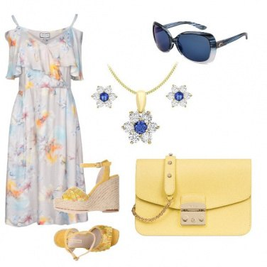 Outfit Print yellow
