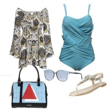 Outfit Elegante in spiaggia