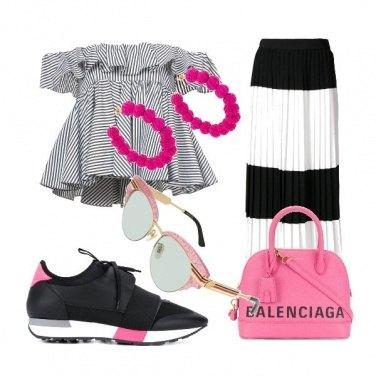 Outfit Righe con brio