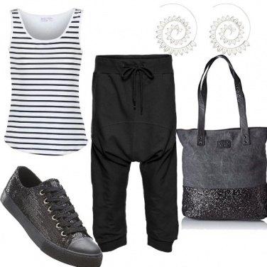 Outfit Sportiva con paillettes