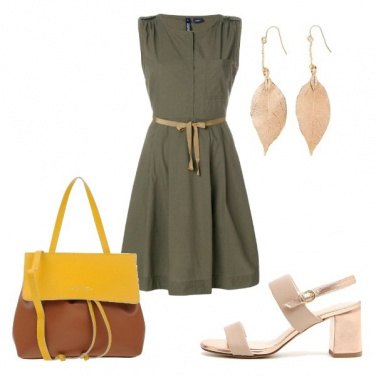 Outfit Go green to office