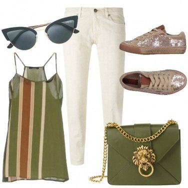 Outfit Un top a righe