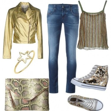 Outfit Rock and gold