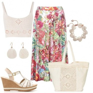 Outfit Top all\'uncinetto