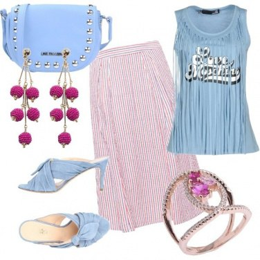 Outfit Baby blue & fuxia