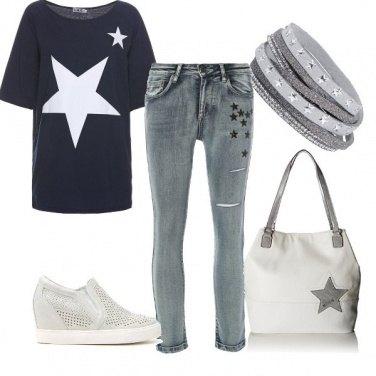 Outfit Al concerto vestita di stelle