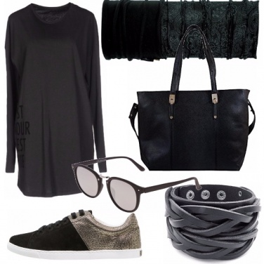 Outfit Nero casual