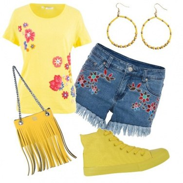 Outfit Yellow & flowers