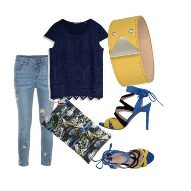 Outfit Yellow blu