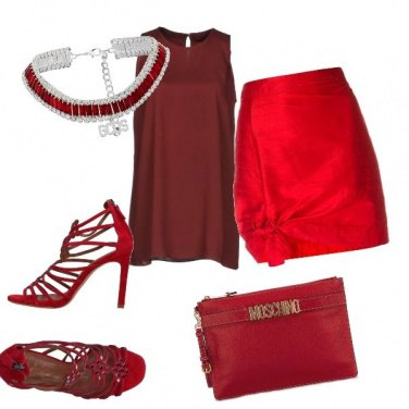 Outfit Serata in rosso