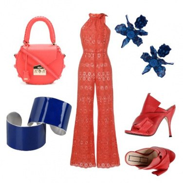 Outfit Blue orange