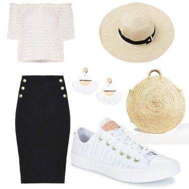Outfit Comodo shopping estivo con la paglietta