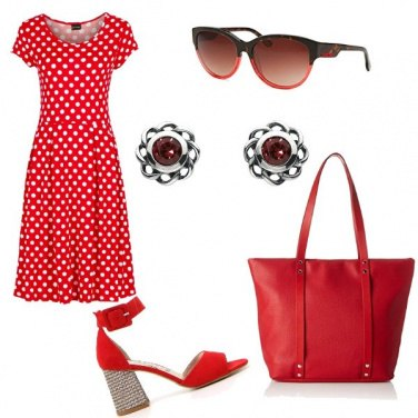 Outfit Rouge e pois