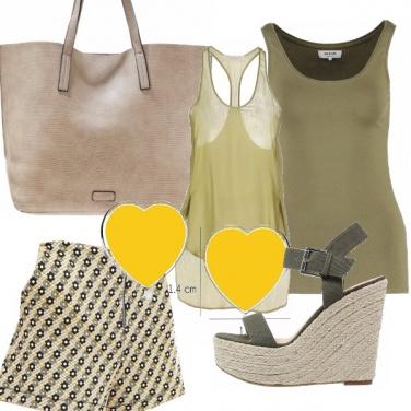 Outfit Cuori gialli