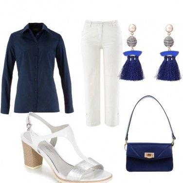 Outfit Bianco e blu mi piaci tu! ❤