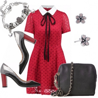 Outfit Bon ton in rosso