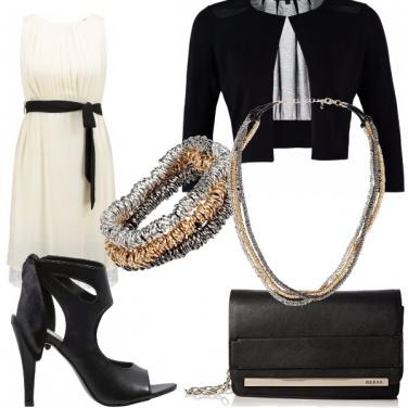 Outfit Eleganza in nero e bianco