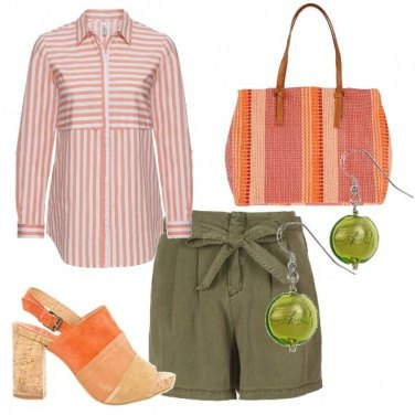 Outfit Lime e arancia