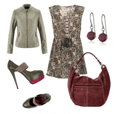 Outfit Cachemire style dress