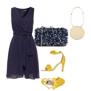 Outfit Cerimonia col tocco giallo