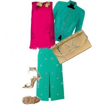 Outfit Trapezio e Cristalli
