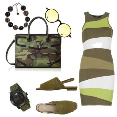 Outfit Urban, military Chic