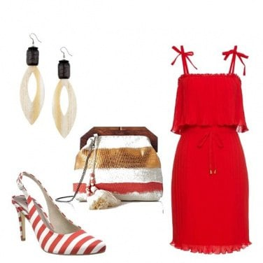 Outfit Righe rosse