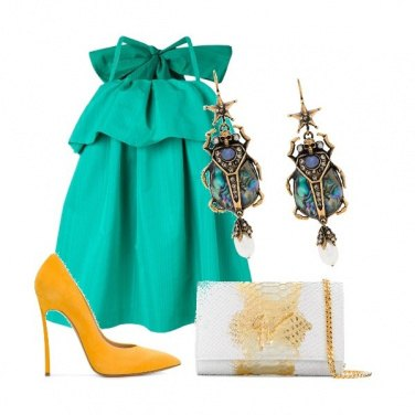 Outfit Verde tiffany