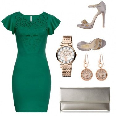Outfit Cerimonia in Green