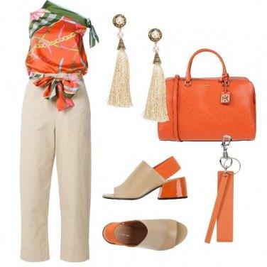 Outfit Arancione con allegria