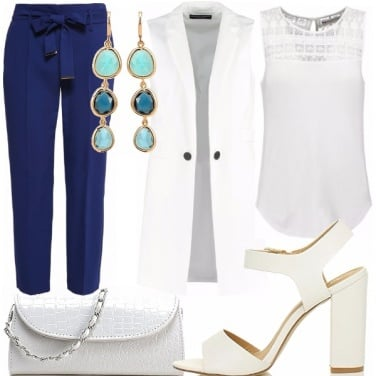 Outfit White&blue
